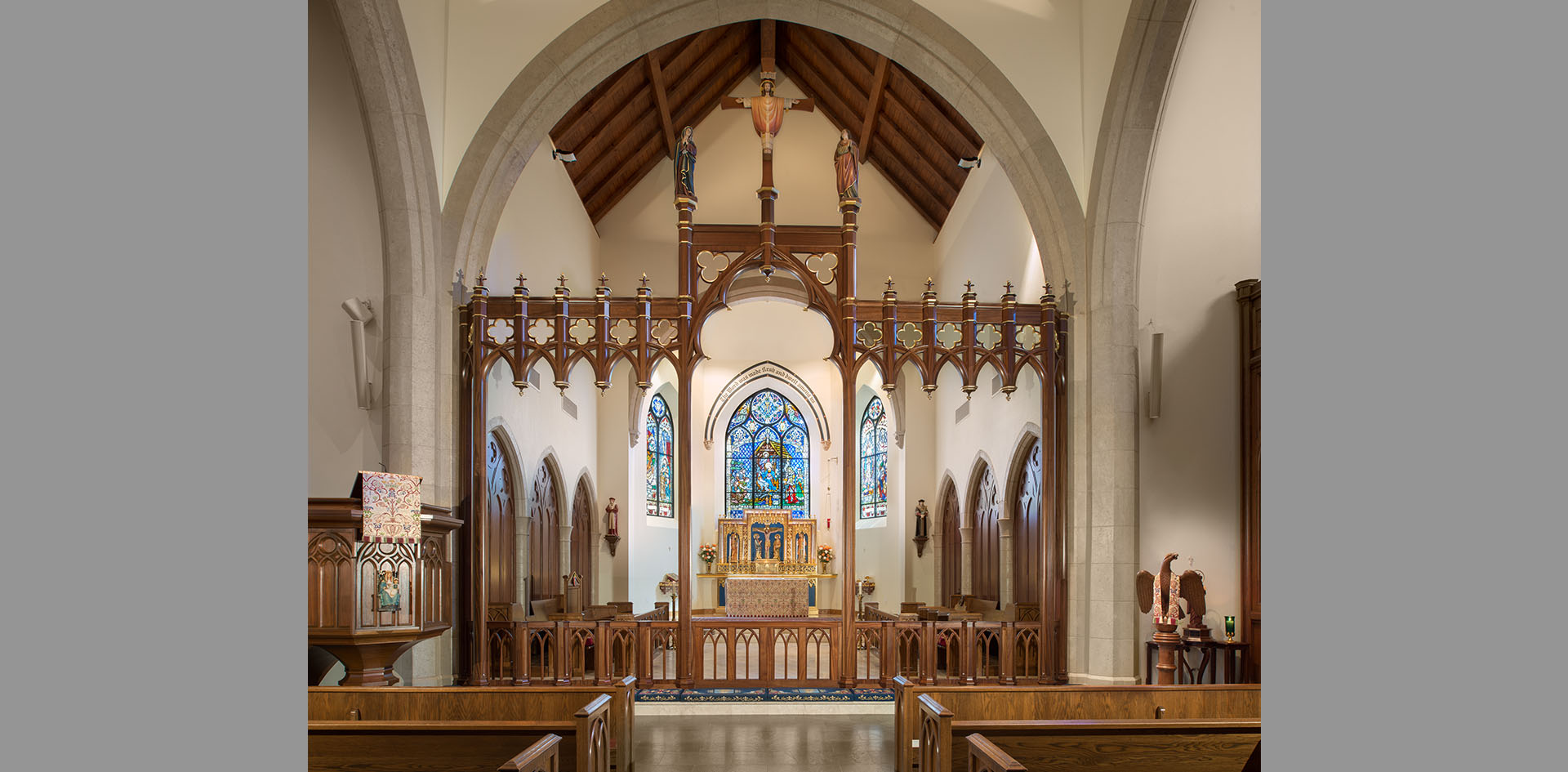 Our Lady of Walsingham Catholic Church Rood Screen 5g